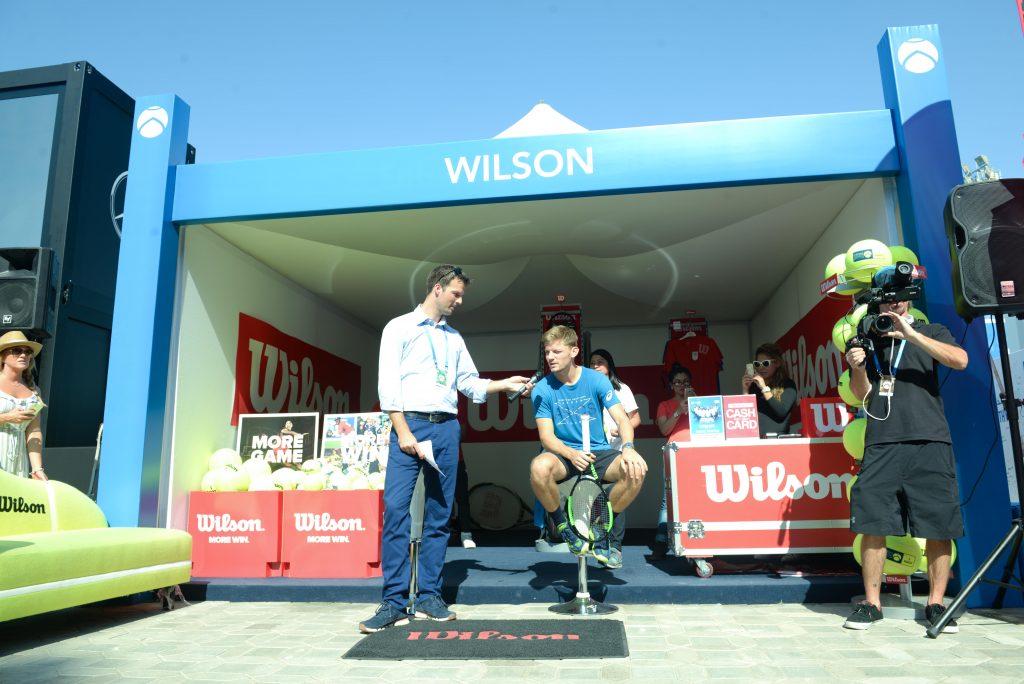 Wilson Tennis booth